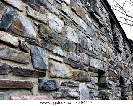 beautiful stone wall poster