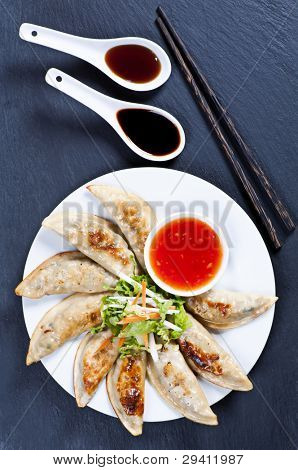 Fried guotie with chili and soy sauce