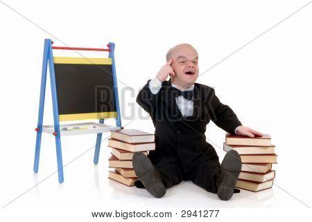 Dwarf, Little Man With Books