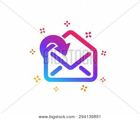 Receive Mail download icon. Incoming Messages correspondence sign. E-mail symbol. Dynamic shapes. Gradient design receive Mail icon. Classic style. Vector poster