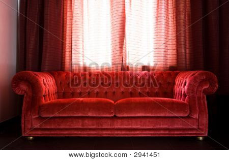 Drawing Room With A Red Sofa