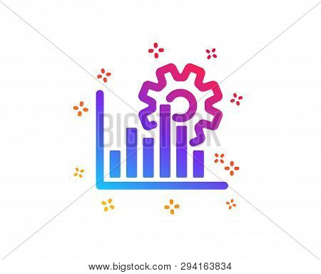 Seo Graph Icon. Search Engine Optimization Sign. Analytics Symbol. Dynamic Shapes. Gradient Design S