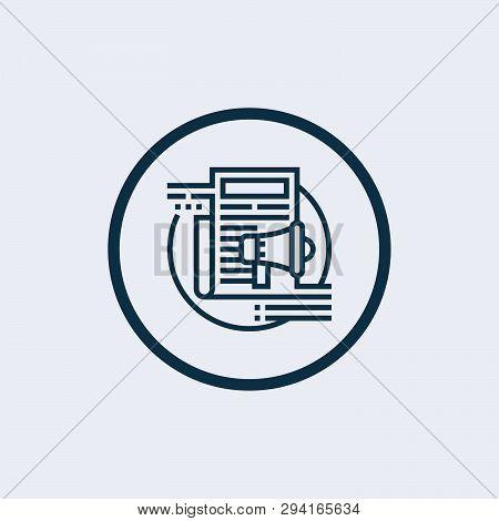 Advertising Icon Isolated On White Background. Advertising Icon Simple Sign. Advertising Icon Trendy