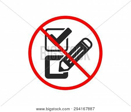 No Stop  Checkbox Vector & Photo (Free Trial) | Bigstock