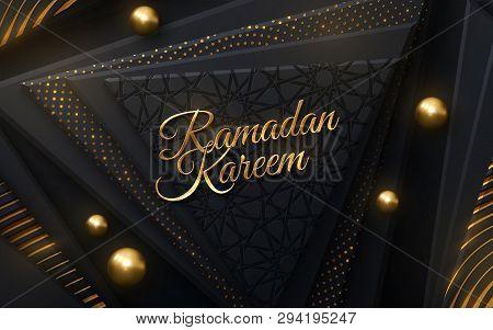 Ramadan Kareem. Modern Cover Design. Vector Islamic Illustration. Holiday Banner Design. Muslim Mont