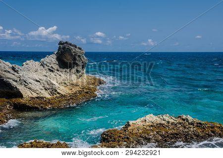 Rocky Cliffs At Isla Mujeres, Cancun, Isla Mujeres
