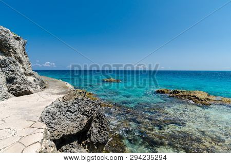 Scenic View From The Cliffs Of Isla Mujeres