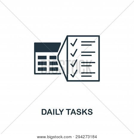 Daily Tasks Icon. Creative Element Design From Productivity Icons Collection. Pixel Perfect Daily Ta