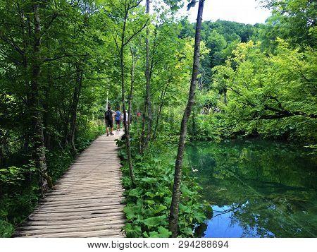 Landscape Of Plitvice Lakes National Park Or Nacionalni Park Plitvicka Jezera, Unesco Natural World