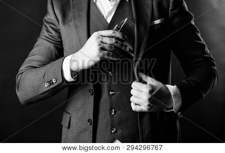 Brandy Drink. Man Drink Alcohol. Male Put Brandy Flask In Pocket. Bachelor And Single. Male Has Bad