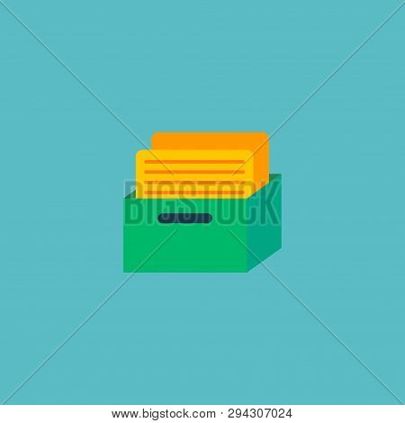 Task Box Icon Flat Element. Vector Illustration Of Task Box Icon Flat Isolated On Clean Background F