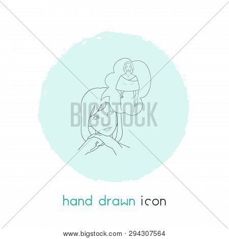 Alter Ego Icon Line Element. Vector Illustration Of Alter Ego Icon Line Isolated On Clean Background