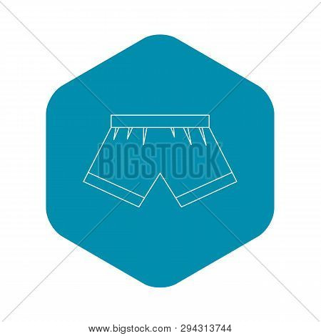 Boxer Briefs Icon. Outline Illustration Of Boxer Briefs Vector Icon For Web