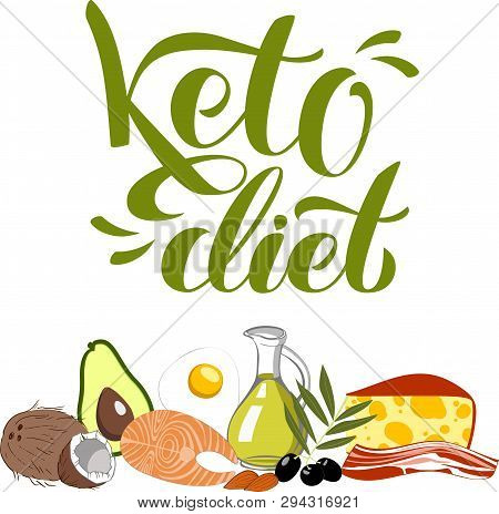 Ketogenic Diet Vector Illustration. Healthy Keto Food Sketch Hand Drawn Banner