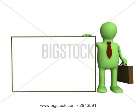 Puppet - Businessman With The Empty Form In A Hand