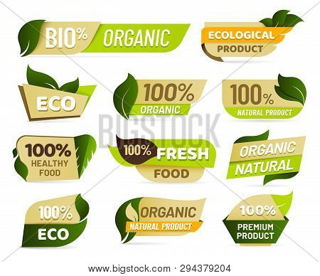 Vegan Emblem. Fresh Nature Product Badge, Healthy Vegetarian Food Products Sticker And Natural Ecolo