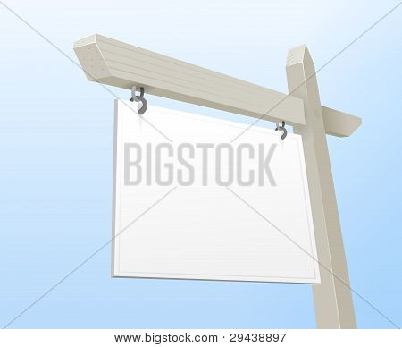 White Real Estate Sign