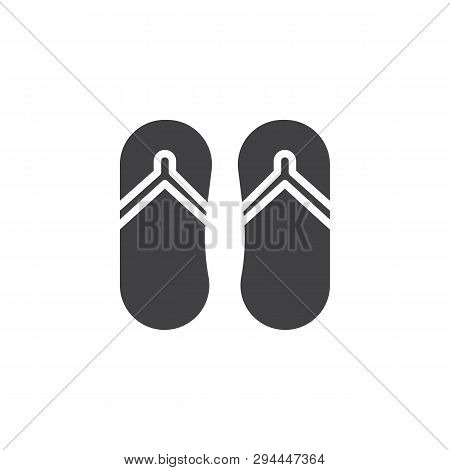 b85804db570e Flip flops vector icon. filled flat sign for mobile concept and web design.  Beach slippers glyph icon. Symbol