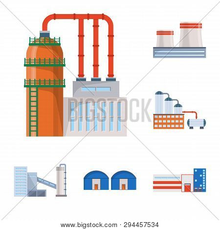 Isolated Object Of Industry And Building Logo. Set Of Industry And Construction Stock Vector Illustr