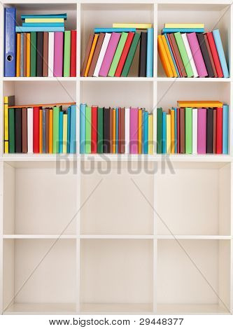 Empty and full Bookcase library