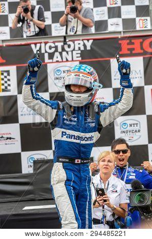 April 07, 2019 - Birmingham, Alabama, USA: TAKUMA SATO (30) of Japan wins the Honda Indy Grand Prix of Alabama Birmingham, Alabama.