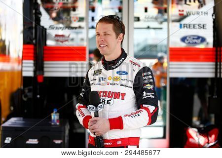 April 05, 2019 - Bristol, Tennessee, USA: Brad Keselowski (2) gets ready to practice for the Food City 500 at Bristol Motor Speedway in Bristol, Tennessee.