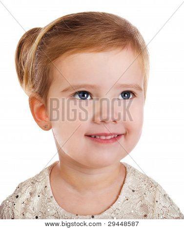 Portrait Of Smiling Cute Little Girl