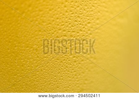 Beer Bubbles Glass Close Up Of Mug Beer With Water Drop On Texture Background