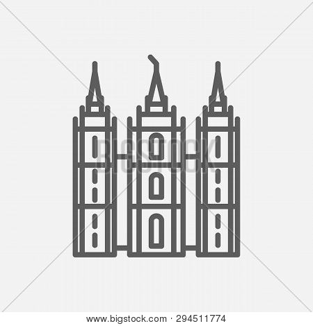 Utah Icon Line Symbol. Isolated Vector Illustration Of  Icon Sign Concept For Your Web Site Mobile A