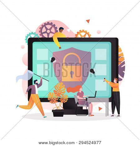 Anti Virus Vector Concept For Web Banner, Website Page