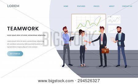 Professional Business Team Landing Page Template. Business Development, Team Building Website, Webpa