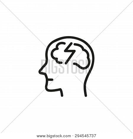 Cognitive Distortion Line Icon. Schizophrenia, Split Personality Disorder, Psychosis. Mental Health