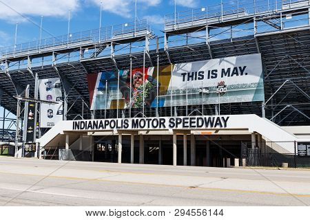 Indianapolis - Circa April 2019: Gate Two Entrance At Indianapolis Motor Speedway. Ims Prepares For