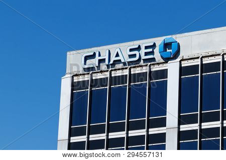 Indianapolis - Circa April 2019: Chase Bank Retail Location. Chase Is The Consumer And Commercial Ba