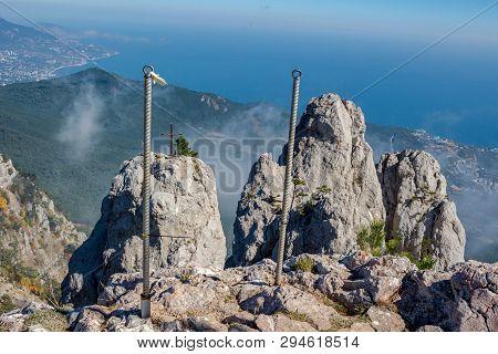 The South Coast Of Crimea. Battlements Of Mount Ai-petri, Crimea