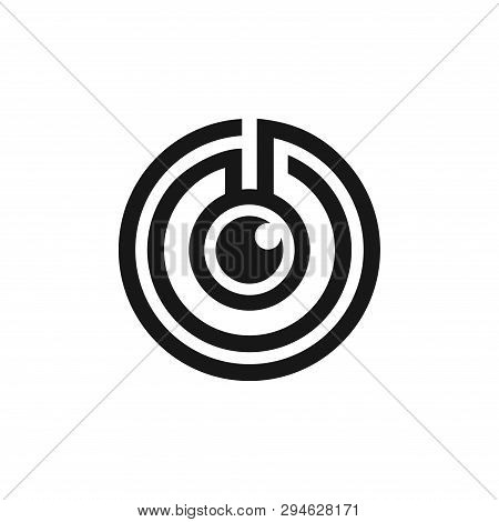 Maze Labyrinth One Eye Monocular Logo Symbol