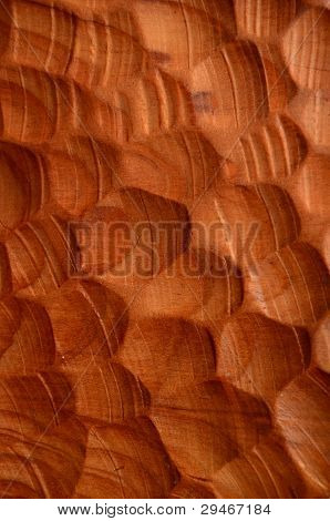 Background Of Carved Wood