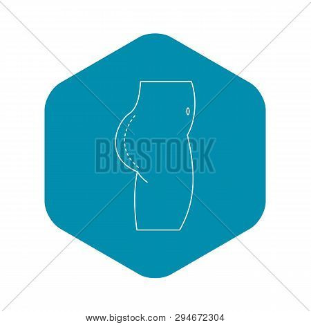 Plastic Surgery Of Buttocks Icon. Outline Illustration Of Plastic Surgery Of Buttocks Vector Icon Fo