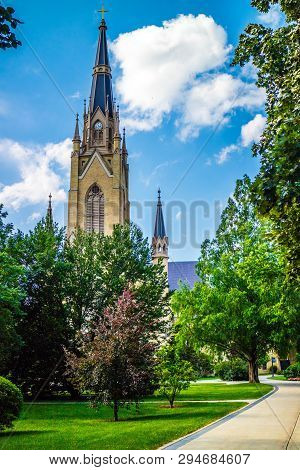 A Gorgeous View Of The Campus While Taking A Stroll Inside Of Notre Dame
