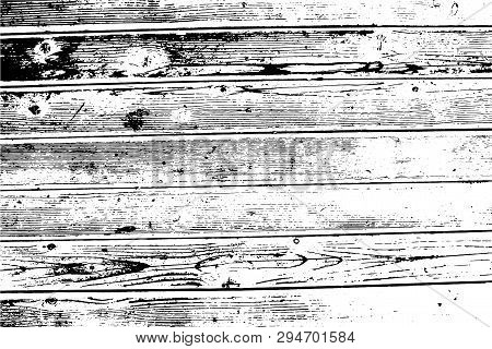 Wooden Wall, Horizontal Planks. Vector Wood Texture. Abstract Heavy Background. For Posters, Retro A