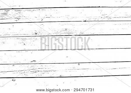 Wooden Wall, Horizontal Planks. Abstract Background. Vector Wood Texture. For Posters, Retro And Urb
