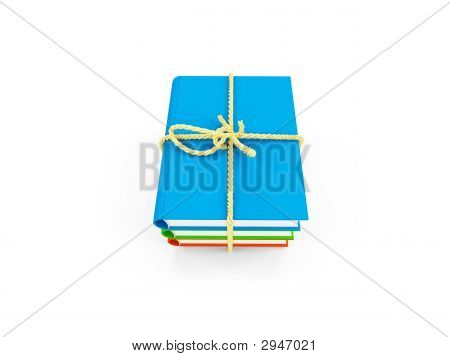Tied Up Books Isolated View