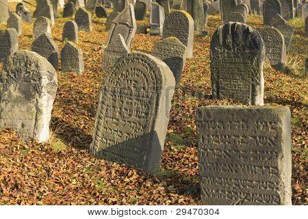 Jewish Cemetery In Libochovice (czech Republic), Founded In 1583