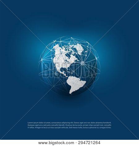 Dark Blue Modern Minimal Style Cloud Computing, Networks Structure, Telecommunications Concept Desig