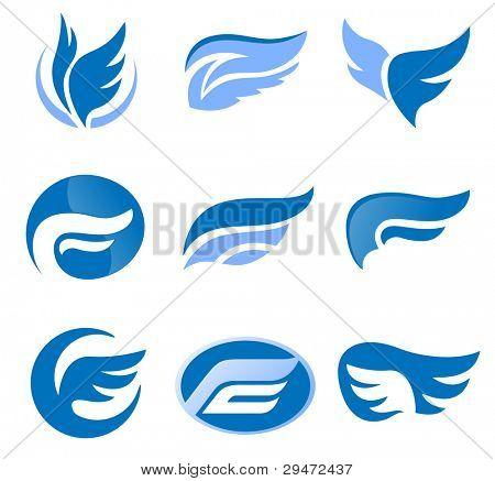 Road. Abstract element set of emblem templates