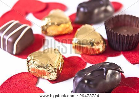 Selection Of Valentine's Day Chocolates