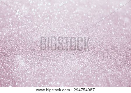 Abstract Bokeh Background. Christmas Glittering Background. Abstract Christmas Coral Color Backgroun