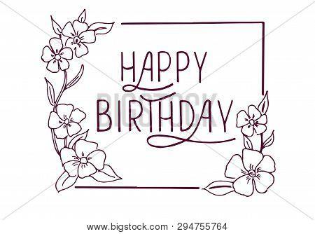 Happy Birthday Text As Birthday Badge/tag/icon. Happy Birthday Card/invitation/banner Template. Birt