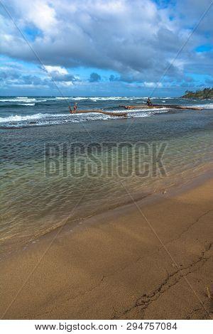 View Of He Coast Along Wailua, Kauai, Hawaii