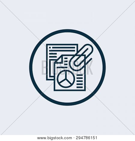Attach Icon Isolated On White Background. Attach Icon Simple Sign. Attach Icon Trendy And Modern Sym